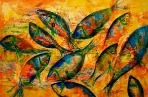Great Barrier Reef Lyn Olsen. Blue fish